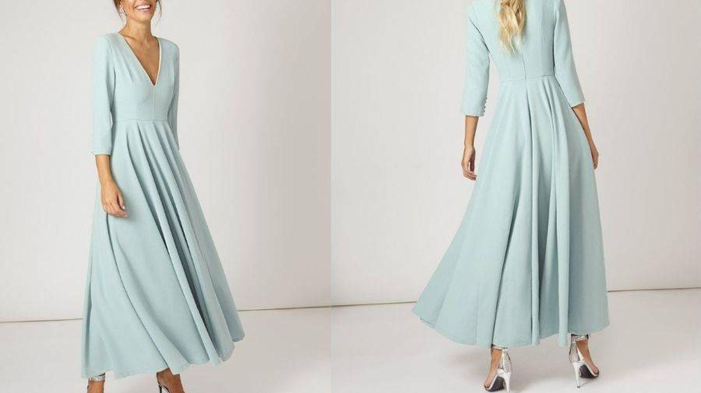 Vestido de invitada de Bruna, rebajado a 120 euros. (Cortesía)