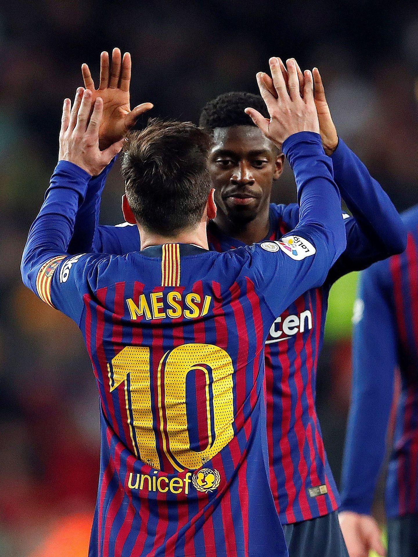Messi y Dembélé fueron los goleadores del FC Barcelona ante el Celta de Vigo. (EFE)