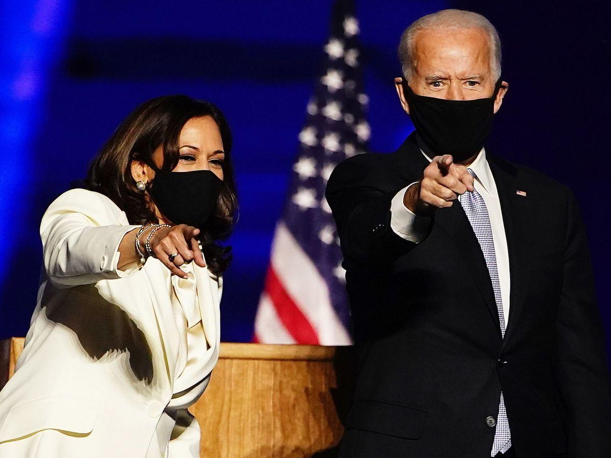 Foto: Joe Biden junto a Kamala Harris  tras ganar las elecciones. (EFE)