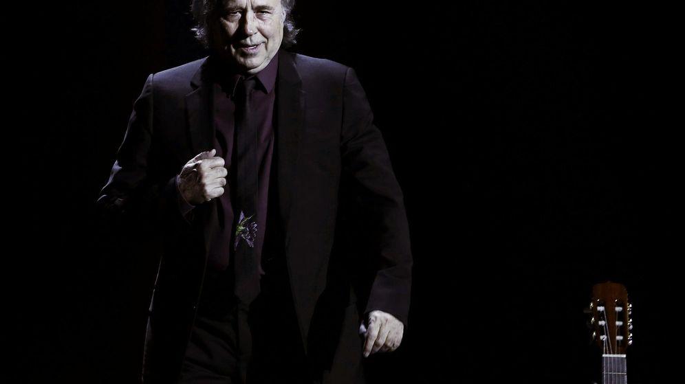 Foto: Joan Manuel Serrat presenta su concierto Antología desordenada (EFE)