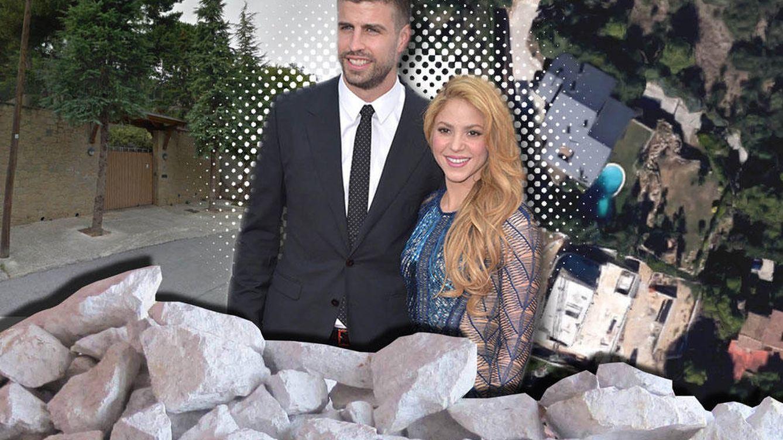 Foto: Montaje de Shakira y Piqué junto a una imagen de su casa (Vanitatis)