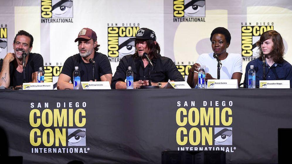 Foto: Parte del elenco de 'The Walking Dead' presente en la Comic-Con