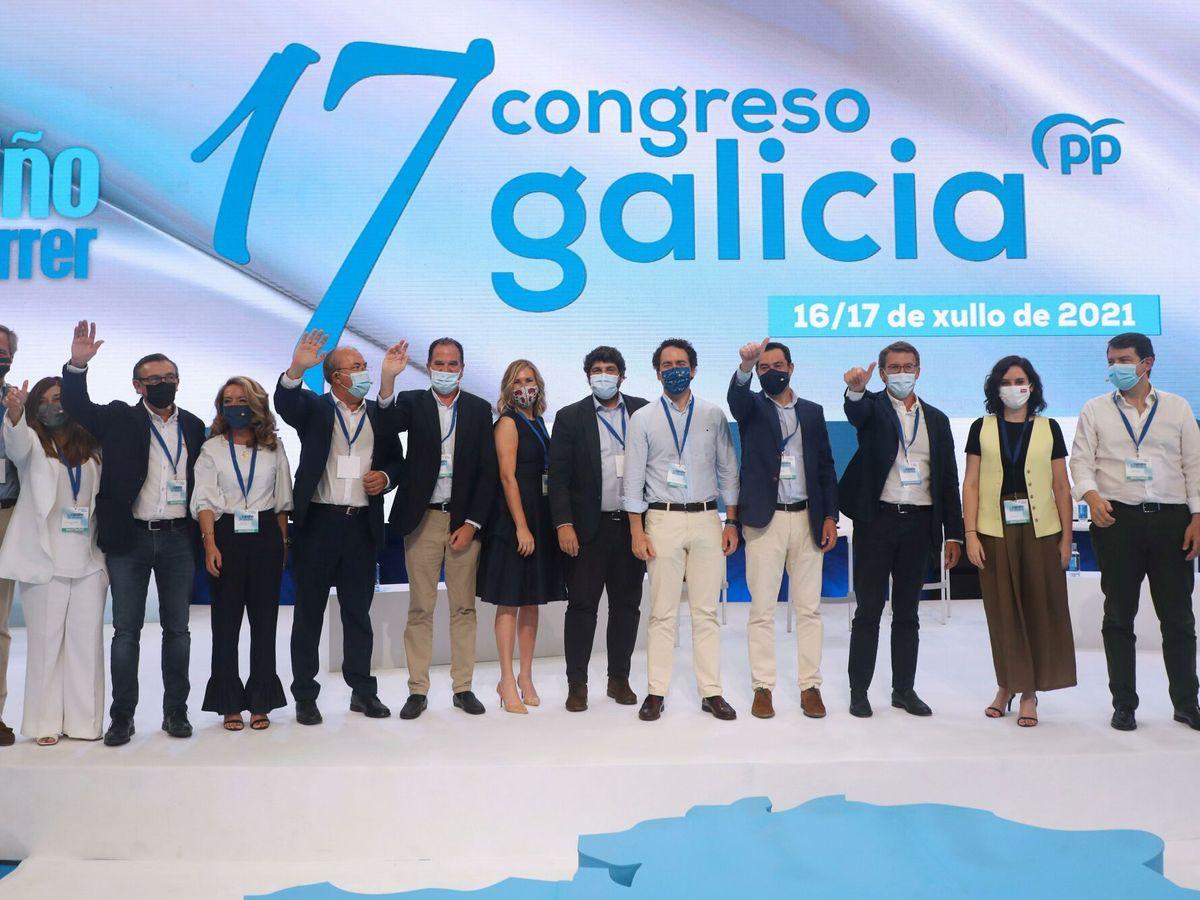 Foto: El 17º Congreso del PPdeG. (EFE)
