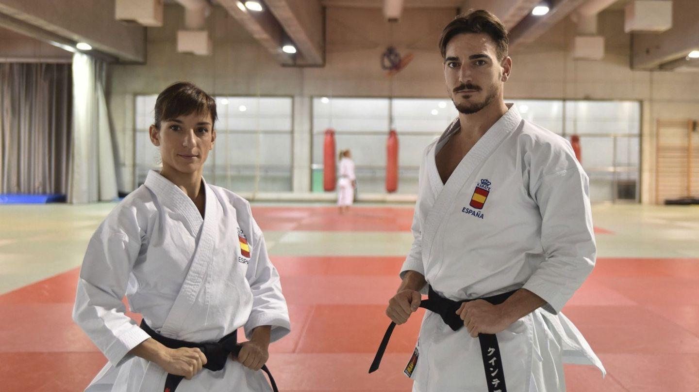 Sandra Sánchez y Damián Quintero, nuestros dos máximos exponentes en el karate a día de hoy. (EFE)