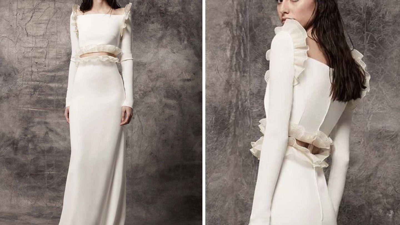 Vestido de la colección cápsula de Roberto Diz para Victoria. (Cortesía)