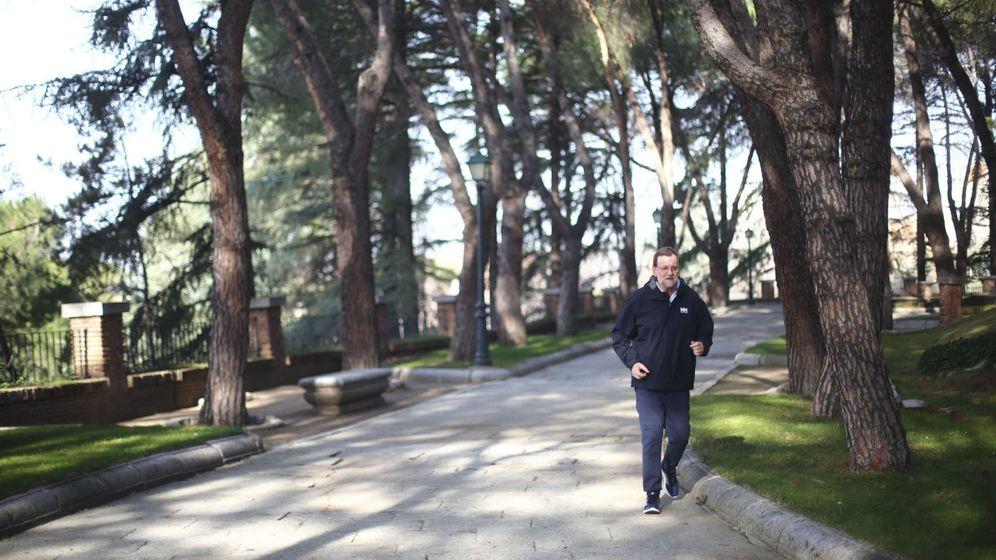 Foto: Mariano Rajoy, haciendo deporte en la Moncloa, en una imagen de archivo. (EFE)