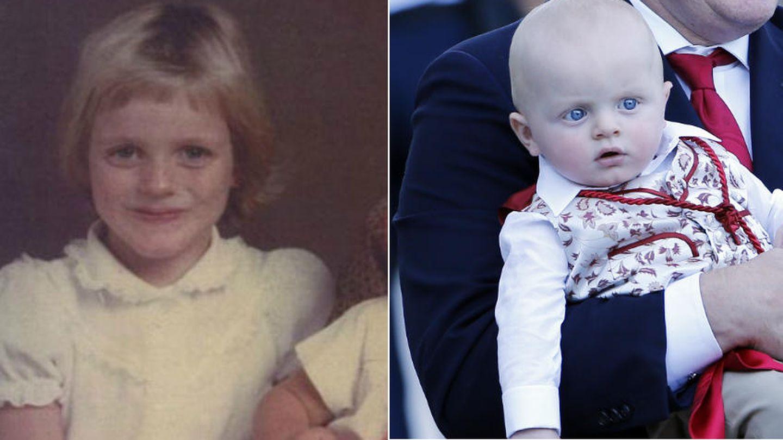 Charlène de pequeña y su hijo, el príncipe Jacques