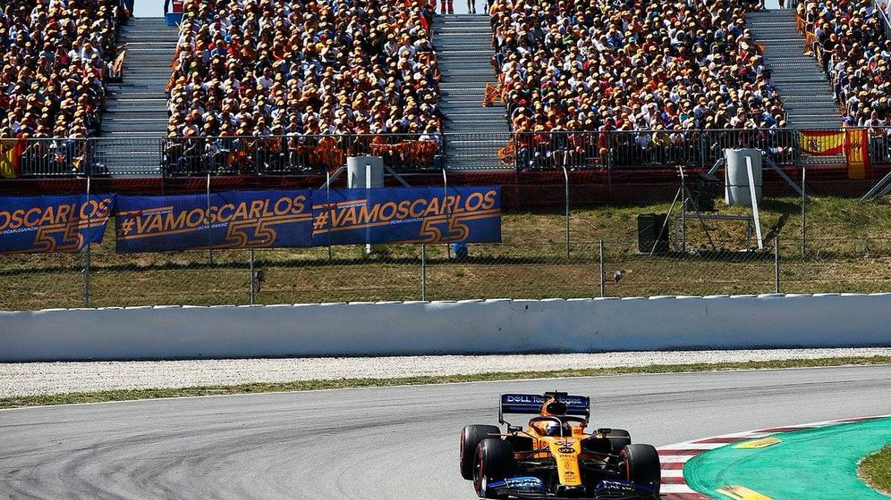 Foto: Carlos Sainz reconoció que el apoyo del público y correr en casa la ayudaron a ser más agresivo (McLaren)