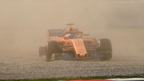 Alonso termina séptimo una jornada marcada por el tiempo y su salida de pista