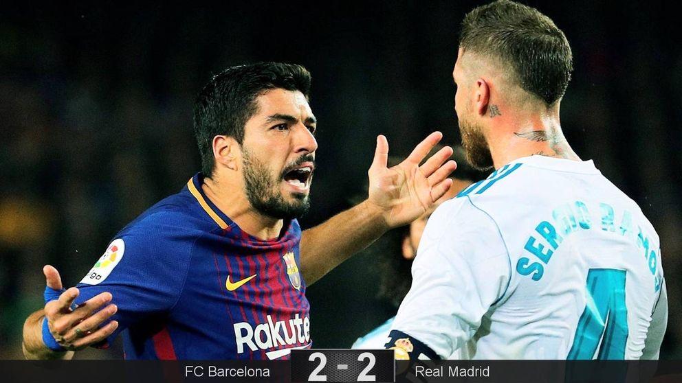 Las mejores imágenes del polémico Barcelona - Madrid