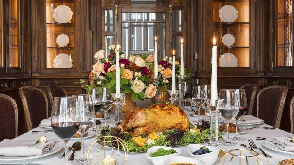 Foto: Thanksgiving, en el hotel Urso. (Cortesía)