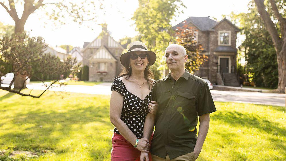Foto: Sharon y David llevan 21 años juntos y no quieren compartir casa. (Valeria Bismar)