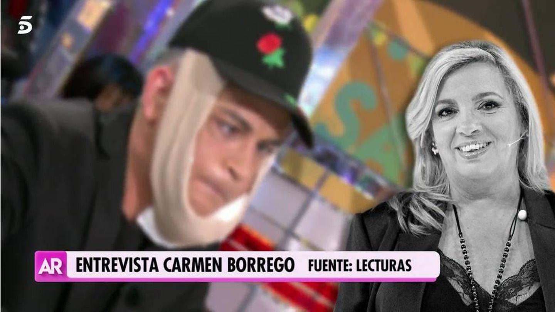 Kiko Rivera, imitando a Carmen. (Mediaset)