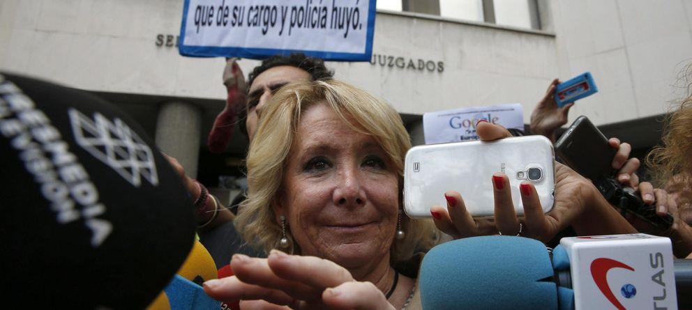La Fiscalía insiste en calificar como falta la fuga de Aguirre en la Gran Vía madrileña