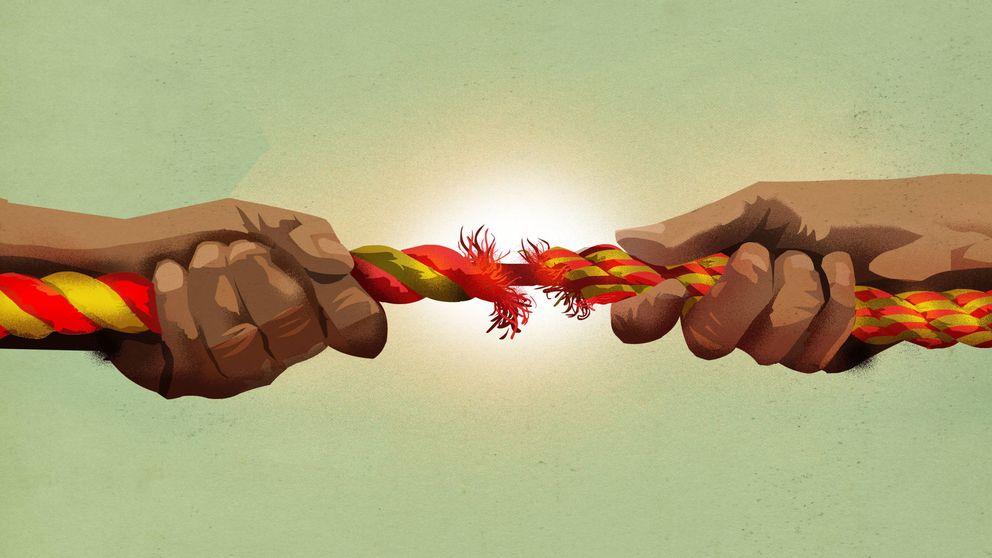 Cataluña: la moneda partida (exactamente) por la mitad
