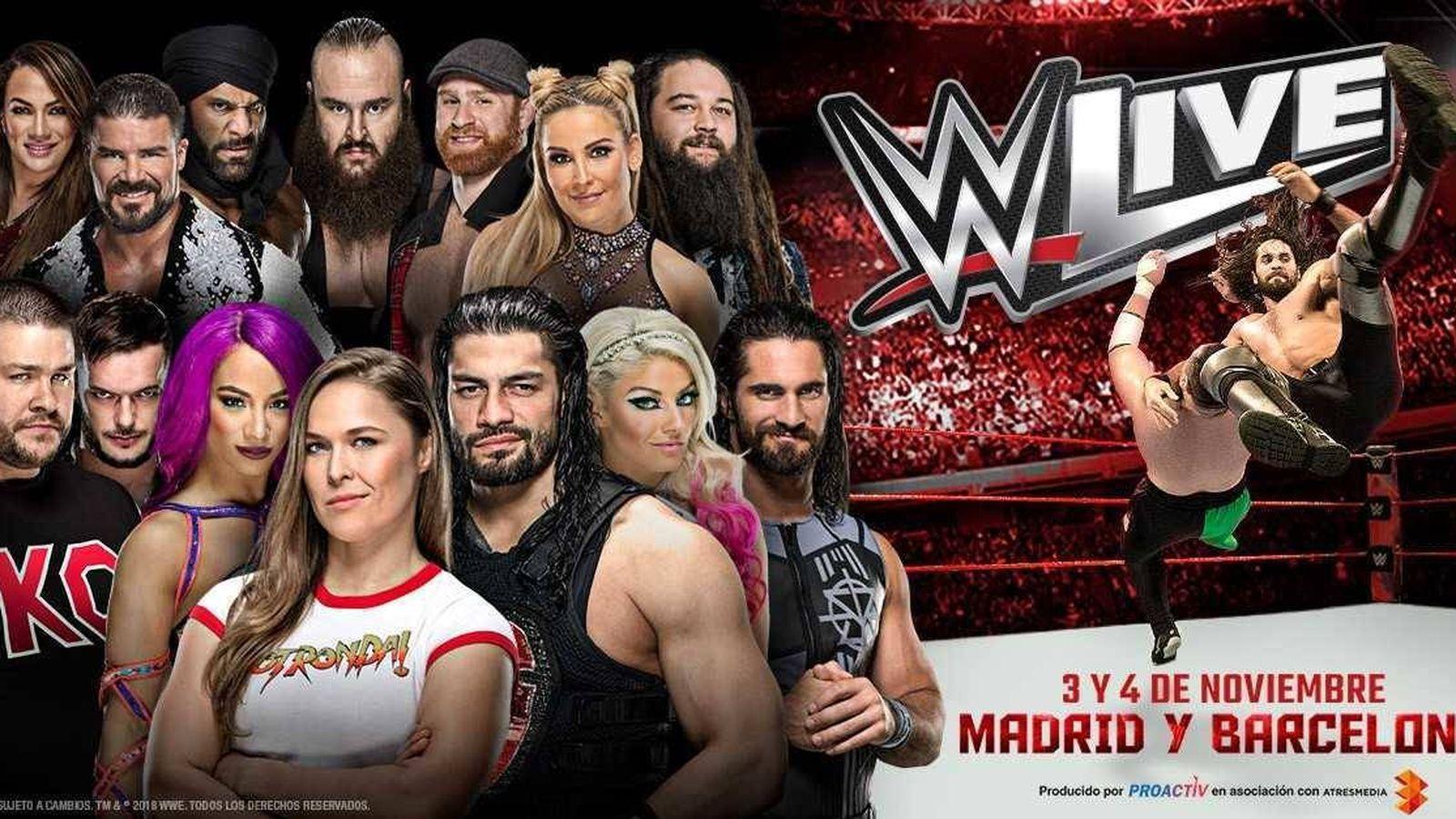Foto: Ronda Rousey ha sido la principal estrella del WWE Live que ha pasado por Madrid y Barcelona.