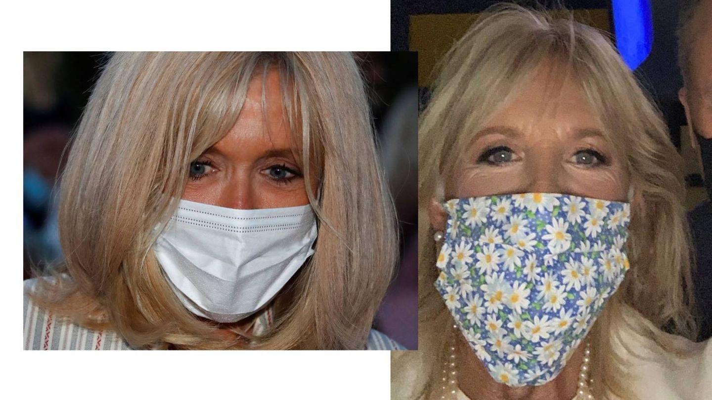El maquillaje de Brigitte Macron y Jill Biden. (Cordon Press / Instagram)