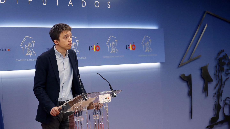 Íñigo Errejón, durante la rueda de prensa en la que anunció que abandonaba el escaño. (EFE)