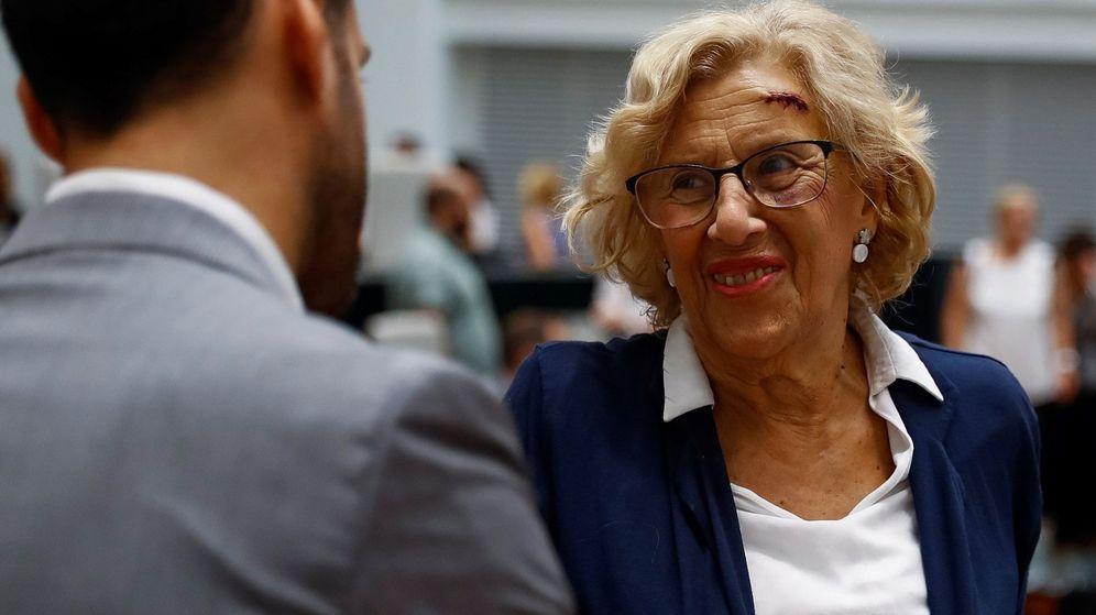 Foto: La alcaldesa de Madrid, Manuela Carmena, reaparece en el debate sobre el estado de la ciudad. (EFE)