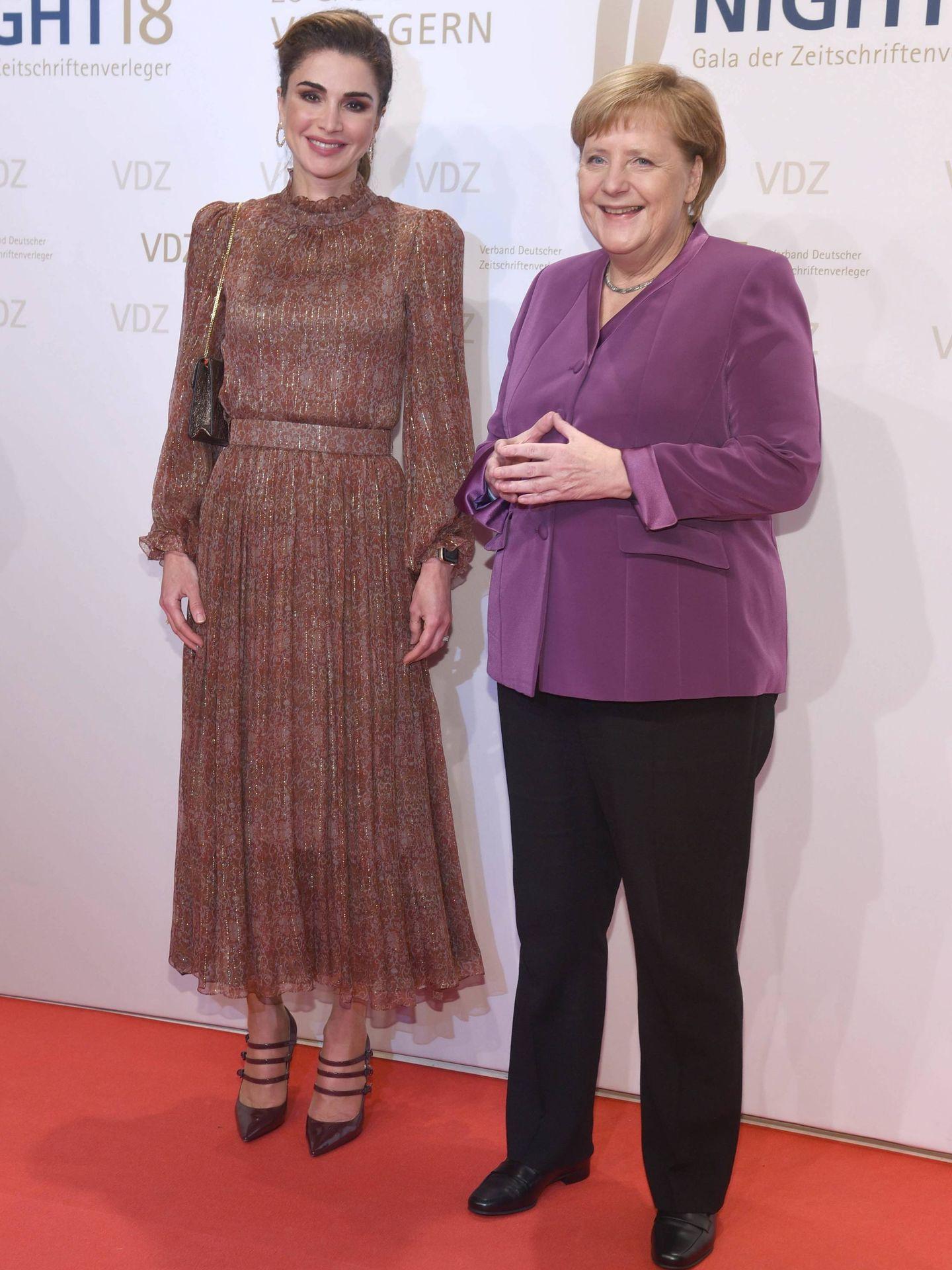 Angela Merkel y Rania de Jordania.  (Cordon Press)