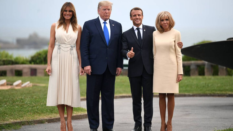 Los Macron y los Trump. (Getty)