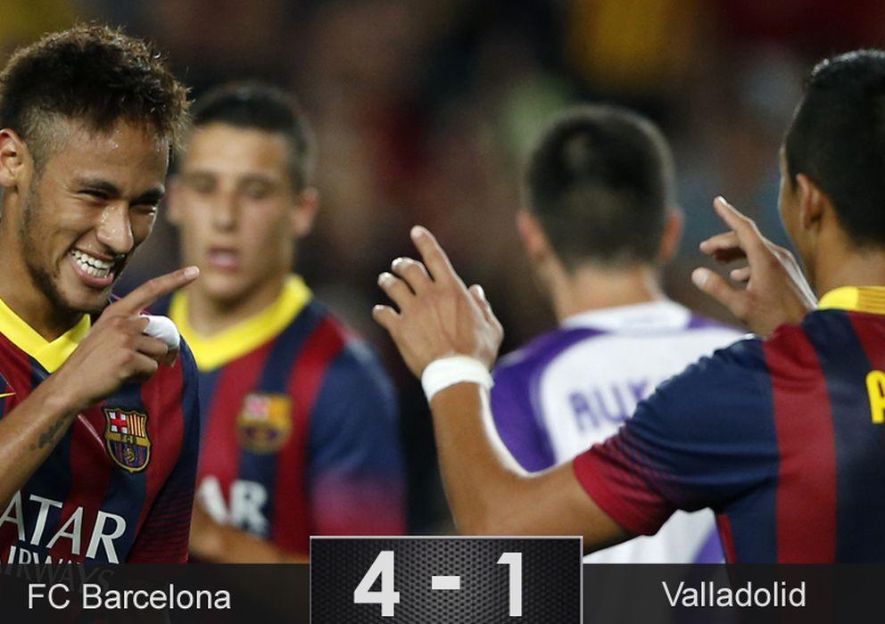 Neymar hace olvidar a messi como falso nueve y el for Haces falta trabajo barcelona