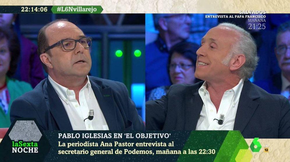 Foto: Momento de tensión entre Jesús Maraña y Eduardo Inda en 'laSexta Noche'. (Atresmedia)