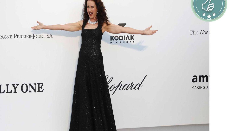 La actriz Andie McDowell, sencilla y muy elegante. (EFE)