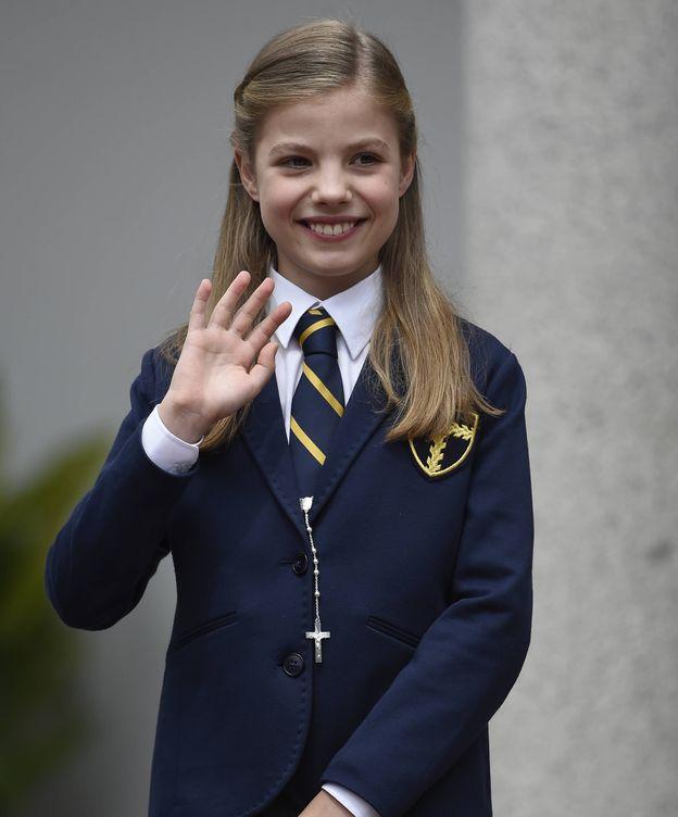 Foto: La infanta Sofía durante su primera comunión. (Gtres)