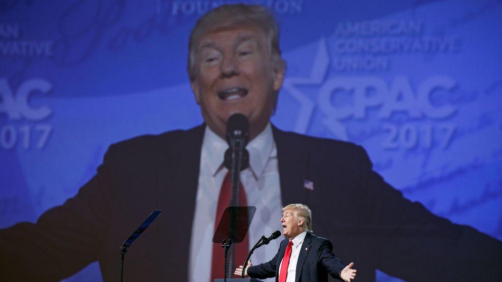 Foto: Donald Trump habla ante la Conferencia De Acción Política Conservadora en Maryland, el 24 de febrero de 2017 (Reuters)