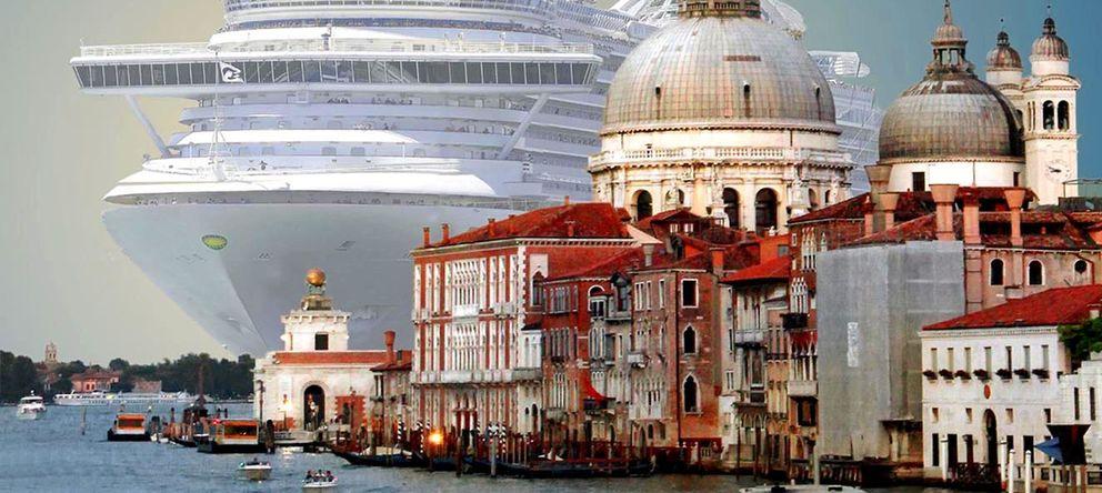 Foto: Un crucero llega a Venecia (El síndrome de Venecia)