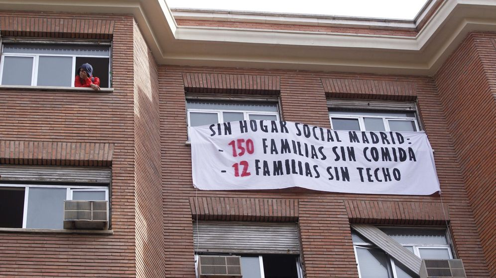 Foto: Okupas en un edificio de Chamartín. (EFE)