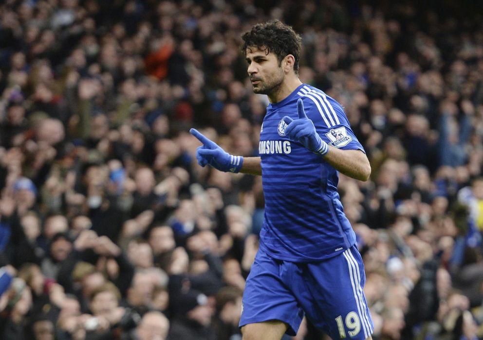 Foto: Diego Costa celebra su gol ante el West Ham.