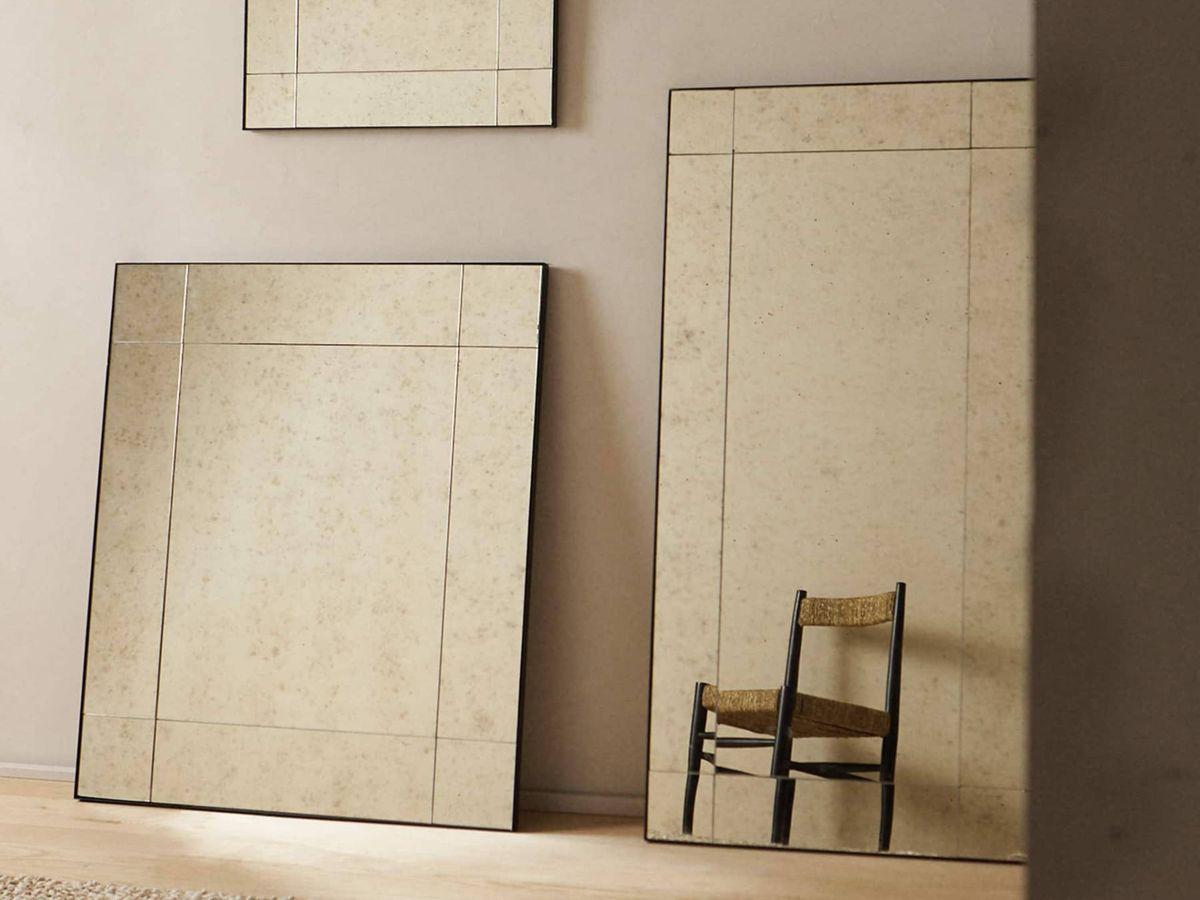Foto: Espejos de aspecto envejecido de Zara Home. (Cortesía)