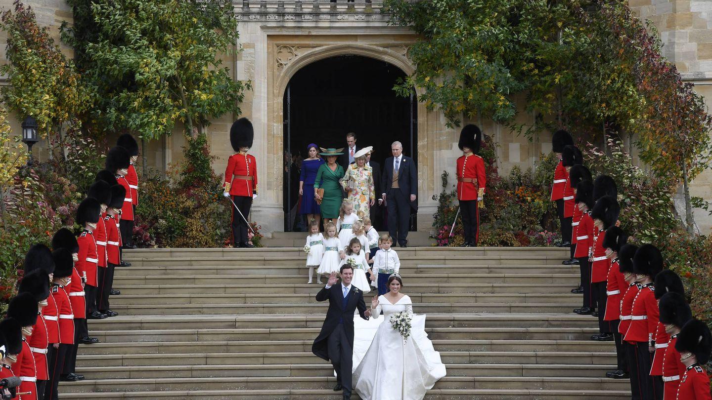 El despliegue para la boda de Eugenia. (Getty)