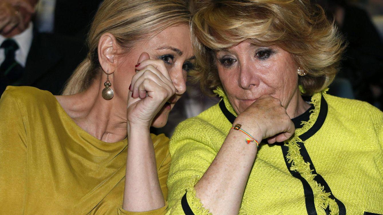 Foto: Las candidatas del PP a la Comunidad y al Ayuntamiento de Madrid, Cristina Cifuentes y Esperanza Aguirre. (EFE)