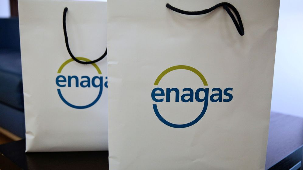 Foto: Bolsas de la compra con el logo de Enagás. (Reuters)