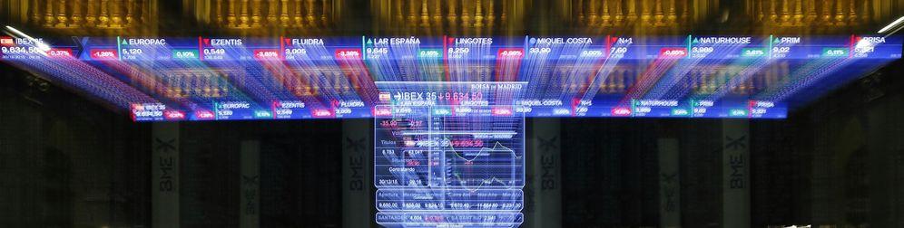 Foto: Panel del Ibex, en la Bolsa de Madrid. (EFE)