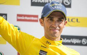 Contador, centrado en la bici, a un paso de un 'amarillo' antes del Tour