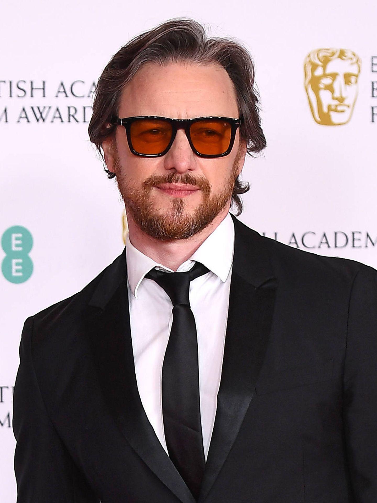 James McAvoy, a lo Harvey Keitel en los BAFTA 2021. (Getty)