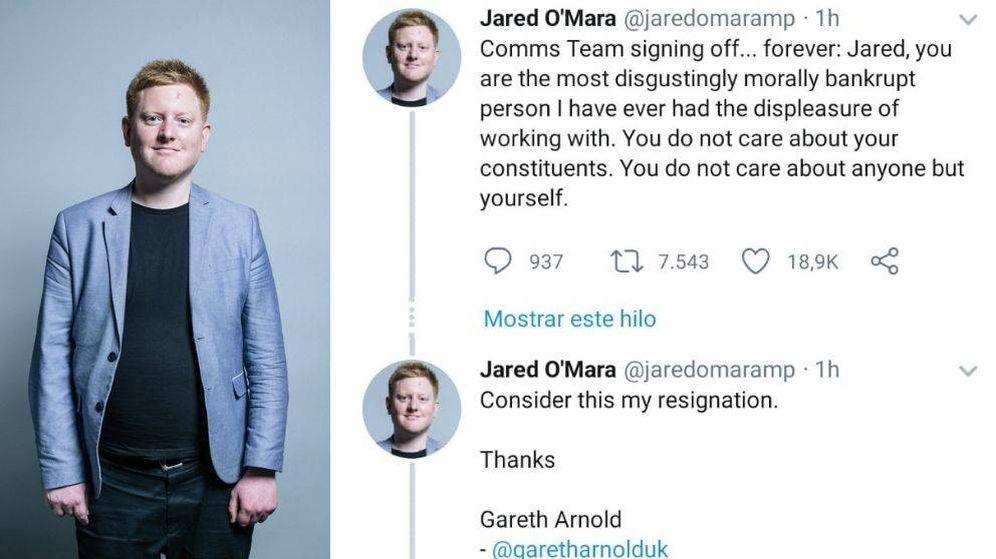 Foto: El responsable de comunicación del diputado publicó su dimisión a través del perfil del propio Jared O'Mara