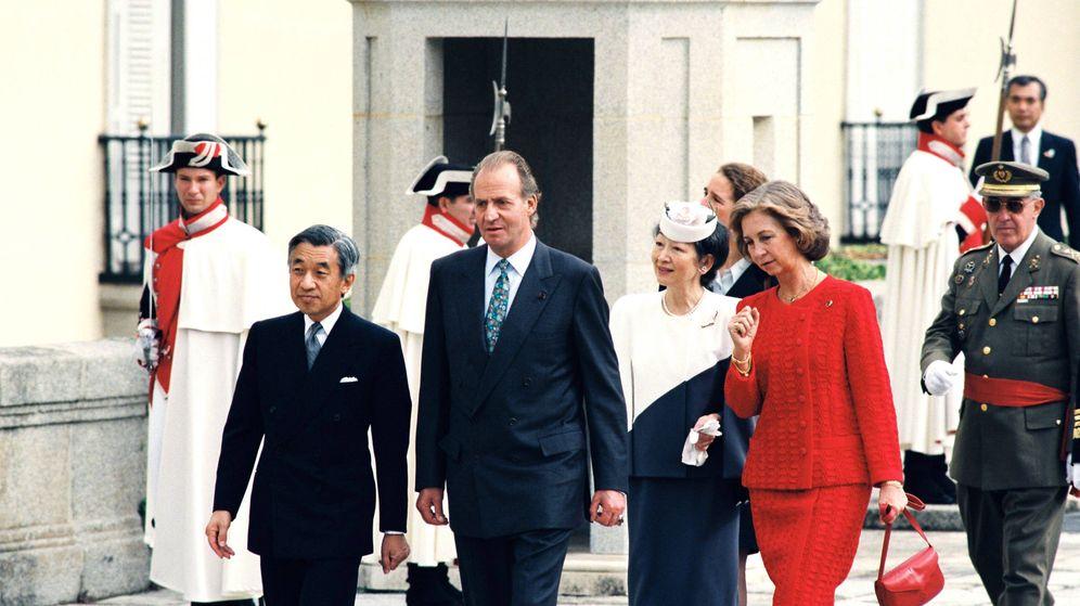 Foto: Los emperadores de Japón junto a don Juan Carlos y doña Sofía. (Getty)