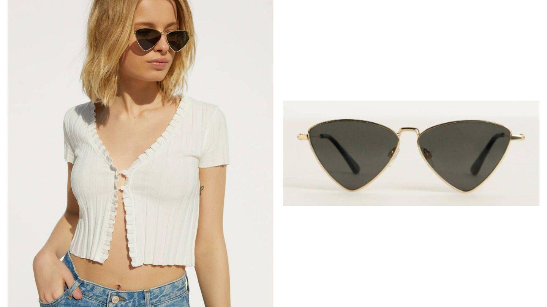 Unas gafas de sol triangulares de Bershka (Cortesía)