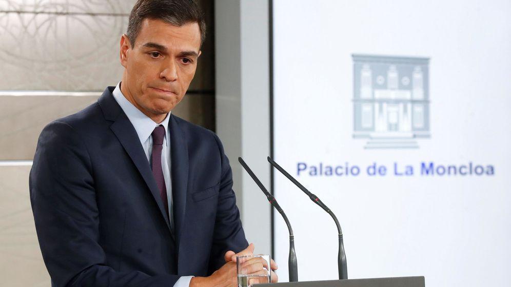 Foto: Pedro Sánchez ofrece una rueda de prensa para convocar elecciones. (EFE)