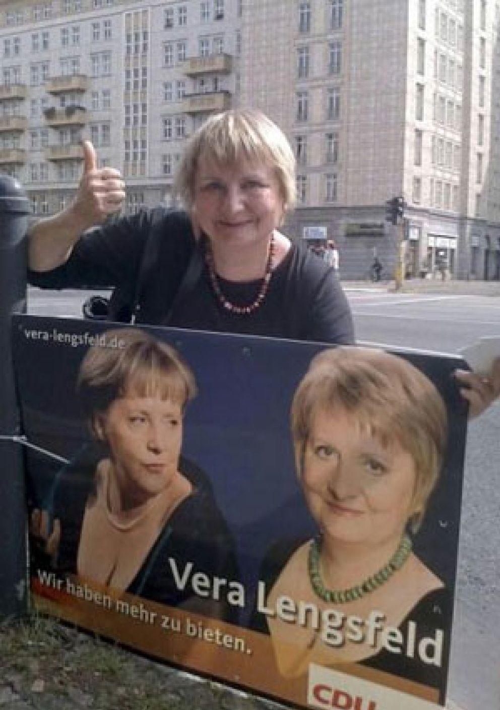 Foto: Merkel, protagonista de una polémica campaña electoral
