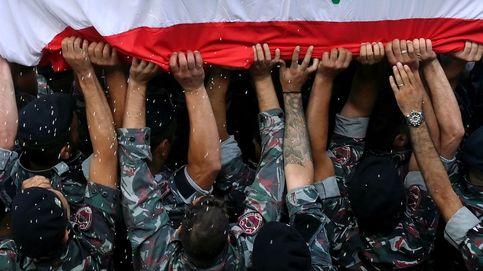 Funeral de un bombero fallecido en Beirut