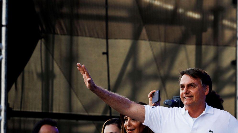 Foto: El presidente de Brasil, Jair Bolsonaro, en la Marcha para Jesús del pasado jueves en Sao Paulo. (Reuters)