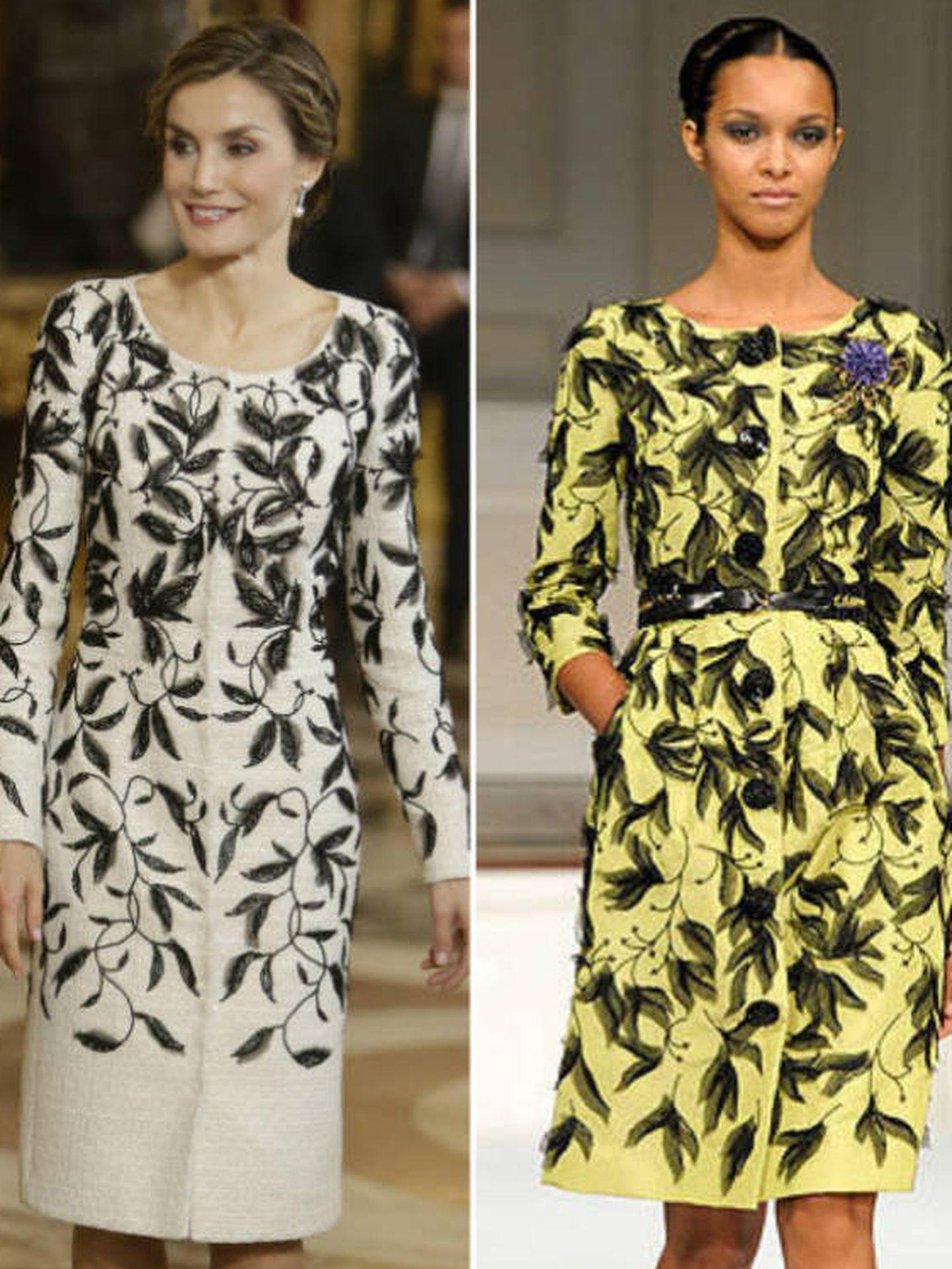 El vestido de la Reina que causó polémica.   (Montaje Vanitatis)