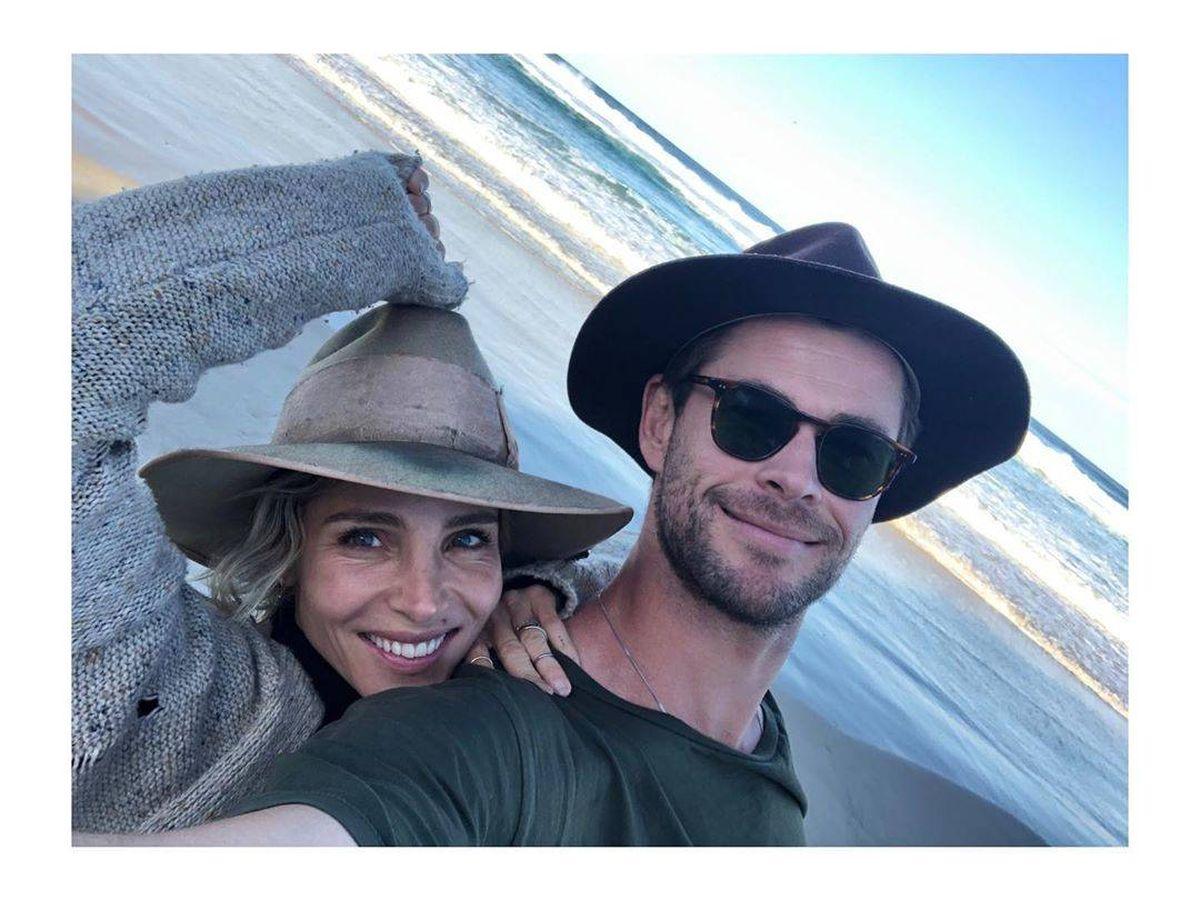 Foto: Elsa Pataky junto a su marido, Chris Hemsworth. (@elsapatakyconfidential)