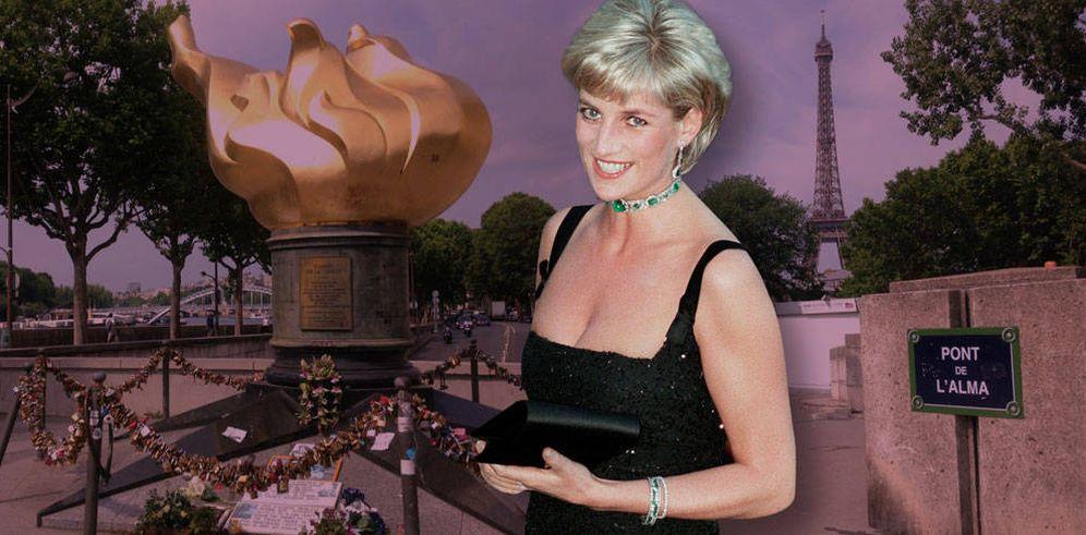 Foto: Diana de Gales en París en un fotomontaje elaborado por Vanitatis.